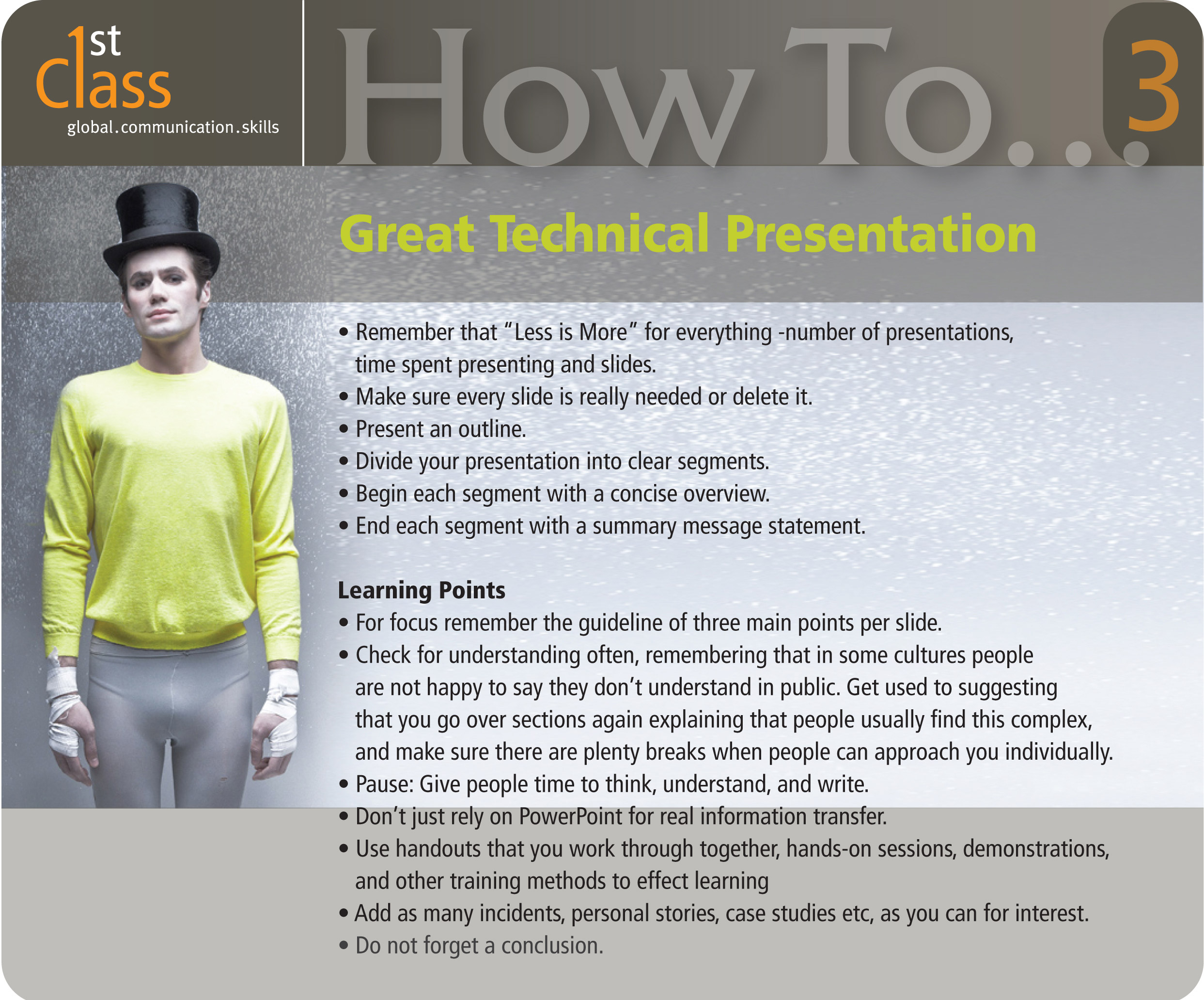 Technical powerpoint presentations